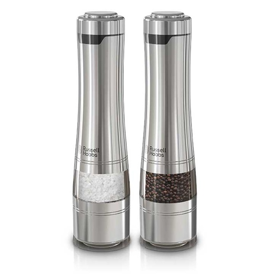 Rhpk4100 Stainless Steel Electric Salt And Pepper Mills Russell Hobbs