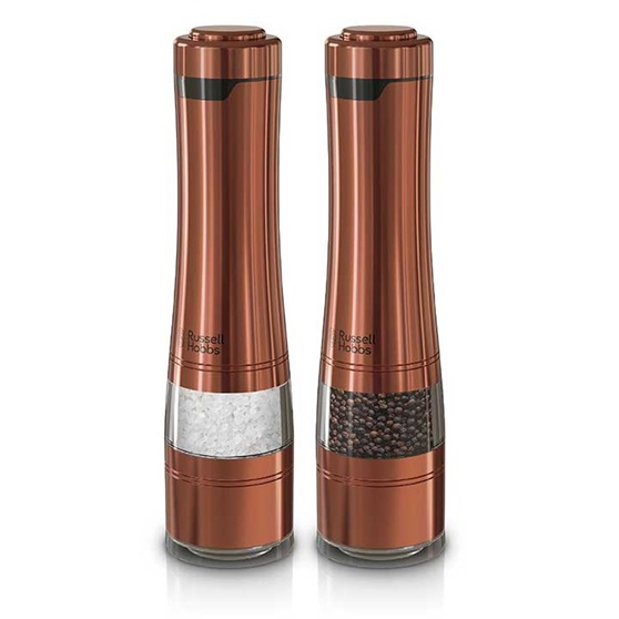 RUSSELL HOBBS™ Electric Salt & Pepper Mills, Copper