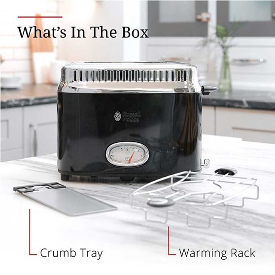What's in the box | Crumb tray and warming rack | TR9150BKR