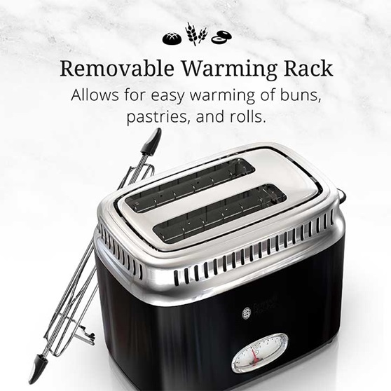 Removable Warming Rack | Allows for easy warming of buns, pastries and rolls | TR9150BKR