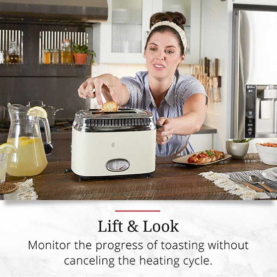 Lift and Look | Monitor the progress of tasting without canceling the heating cycle | TR9150CRRC