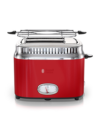 russell hobbs red retro style 2 slice toaster