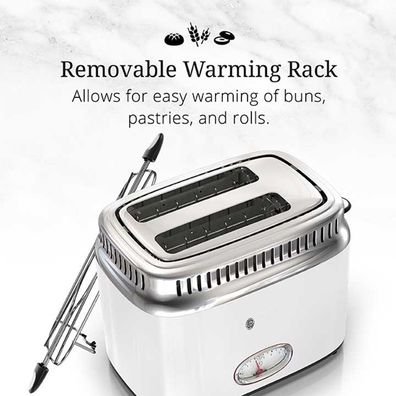 Removable Warming Rack | Allows for easy warming of buns, pastries and rolls | TR9150WTR