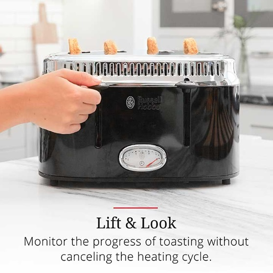 Lift and Look | Monitor the progress of tasting without canceling the heating cycle | TR9250BKR