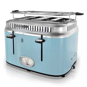Russell Hobbs 4-Slice Retro Toaster, Heavenly Blue, TR9250BLR