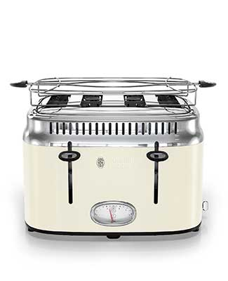 Russell Hobbs cream retro 4 slice toaster
