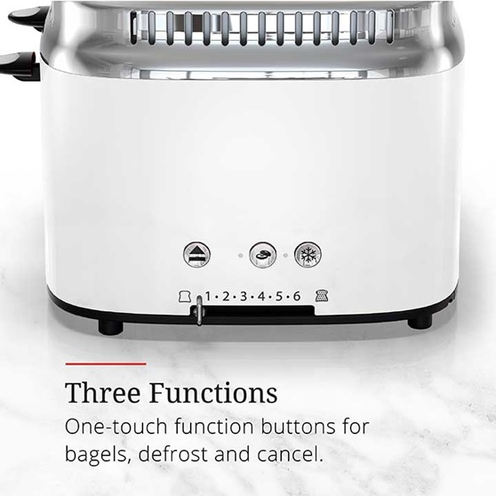 Three functions, one touch function buttons for bagels, defrost and cancel | TR9250WTR