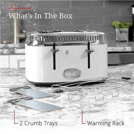 What's in the box | 2 Crumb trays and warming rack | TR9250WTR