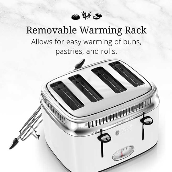 Removable Warming Rack | Allows for easy warming of buns, pastries and rolls | TR9250WTR