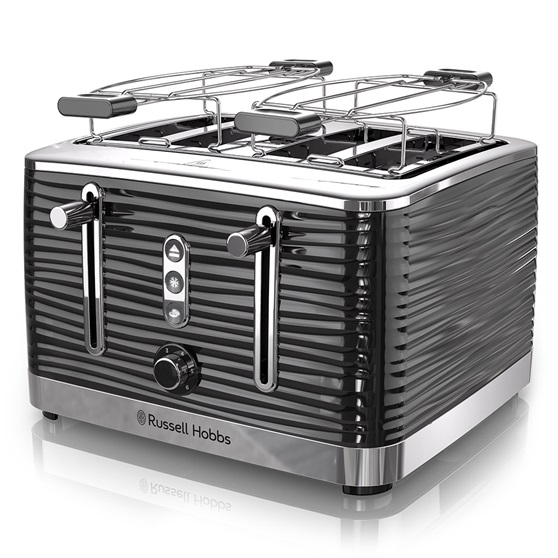 Coventry 4-Slice Black Toaster