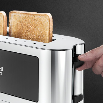 black glass accent 2 slice toaster lift and look