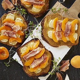 russell hobbs apricot prosciutto brie toast recipe