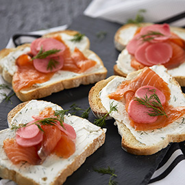 Salmon & Pickled Radish Toast Recipe by Russell Hobbs