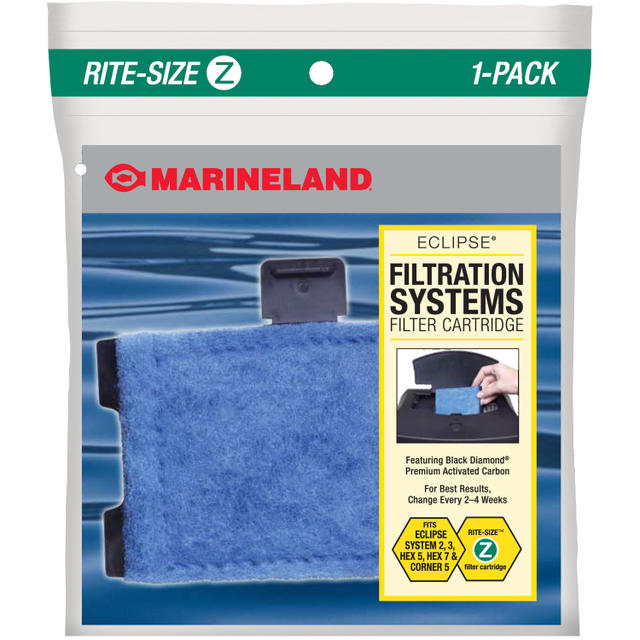 Rite-Size Z Eclipse Explorer, Eclipse System Three, Eclipse Hex 5, Eclipse Corner 5, and Hex 7 Aquarium Filter Cartridge Replacement