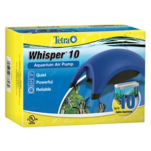 Our Whisper aquarium air pumps are specially made to produce virtually no noise.