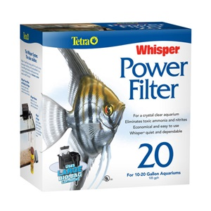 Choose Tetra's Whisper Aquarium and Fish Tank Power Filters for a cleaner, more beautiful tank!