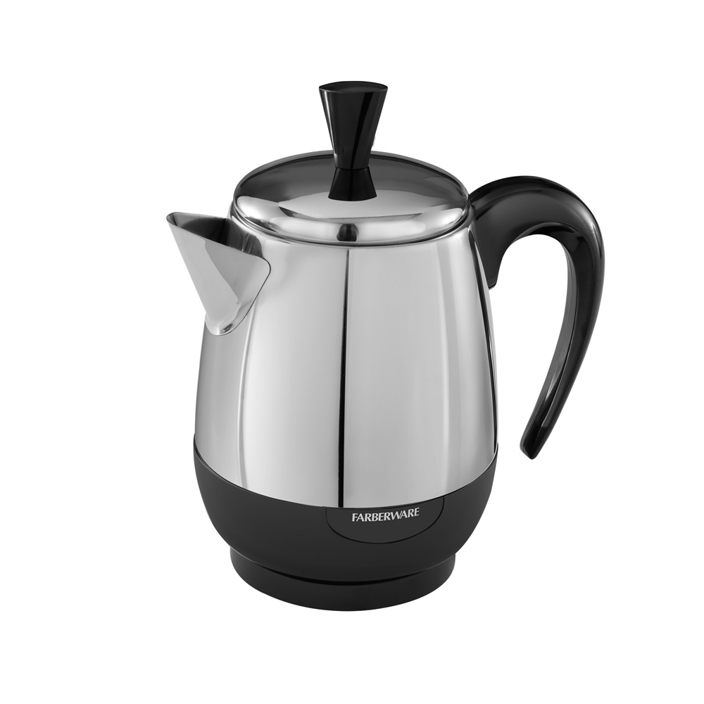 2 4 Cup Electric Percolator Stainless