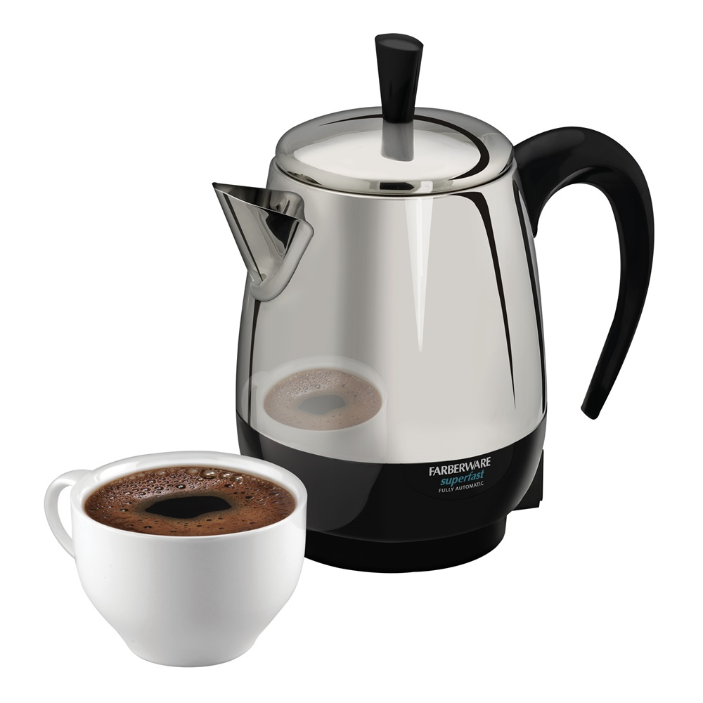 2 4 Cup Electric Percolator Stainless Steel