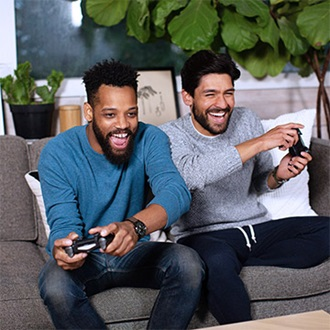 Remington men playing video games