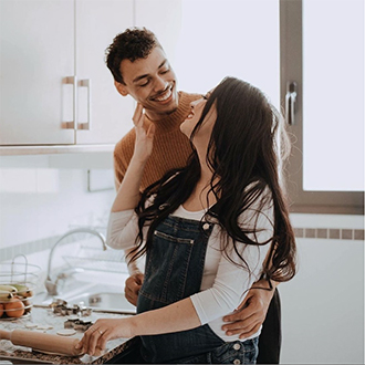 remington instagram cute couple cooking in the kitchen