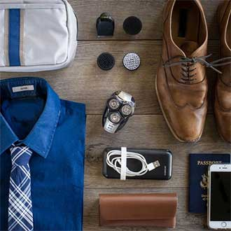 remington instagram verso product on floor with other male dress clothes and products