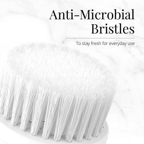 Anti-Microbial Bristles to stay fresh for everyday use