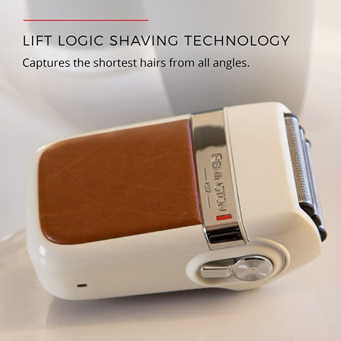 Life logic shaving technology. Captures the shortest hairs from all angles