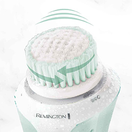 remington reveal facial cleansing brush with dual power motion fc1000