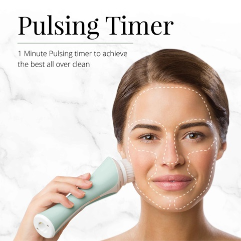 remington reveal facial cleansing brush with pulsing timer fc1000