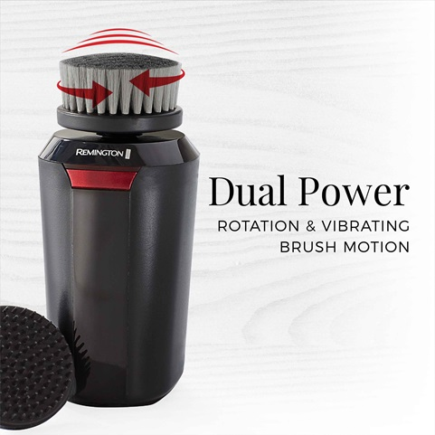 remington reveal mens compact facial cleansing brush with dual power fc1500b