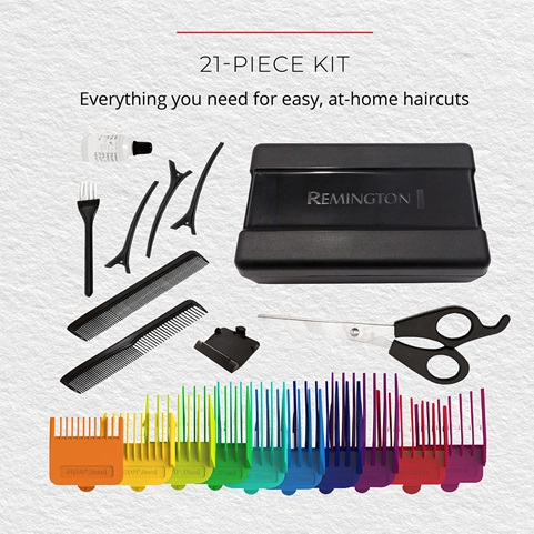 21-Piece Kit. Everything you need for easy, at home haircuts
