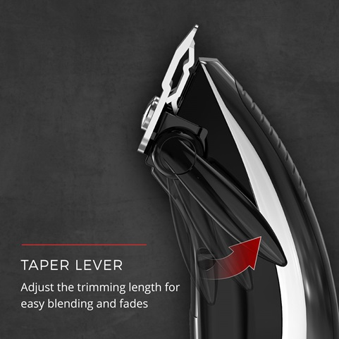 Taper Lever. Adjust the trimming length for easy blending and fades.