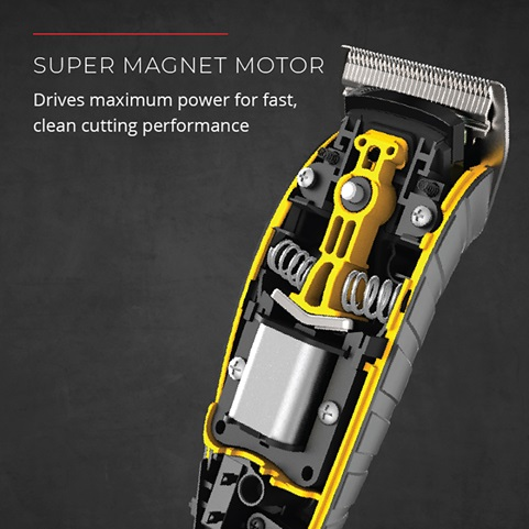 Super magnet motor. Drive maximum power for fast, clean cutting performance.