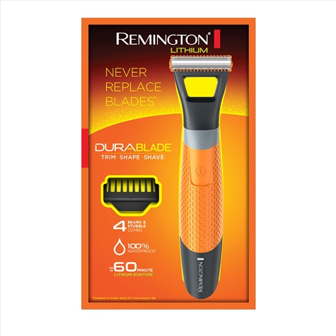 remington durablade lithium trimmer and shaver packaging mb040