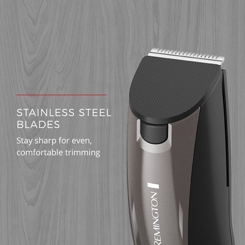 Stainless Steel Blades stay sharp for even, comfortable trimming
