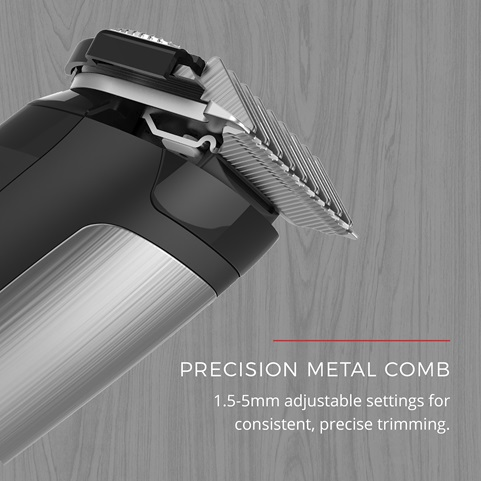 Precision Metal Comb \ 1.5-5mm adjustable settings for consistent, precise trimming