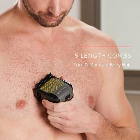 5 Length Combs trim and maintain body hair