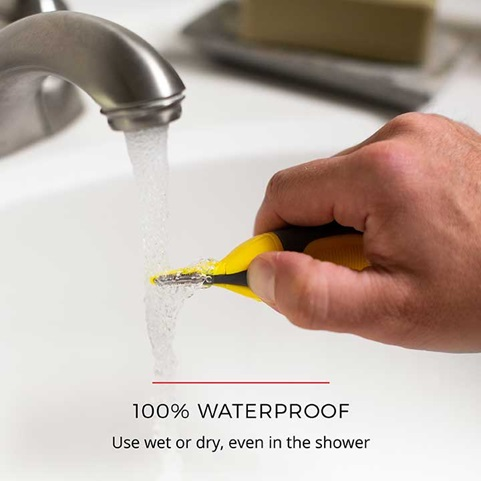 100 Percent Waterproof - Use wet or dry, even in the shower