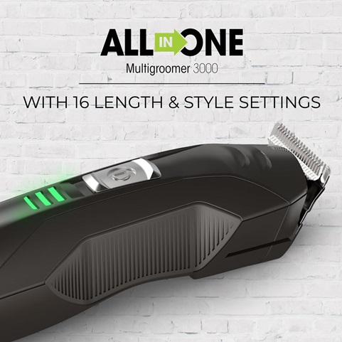 All in One Multigroomer 3000 with 16 length and style settings