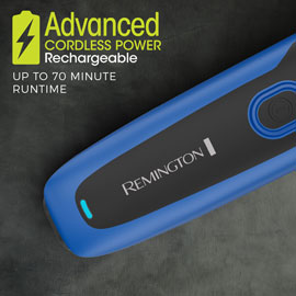 advanced cordless rechargeable power. up to 70 minutes of cordless runtime
