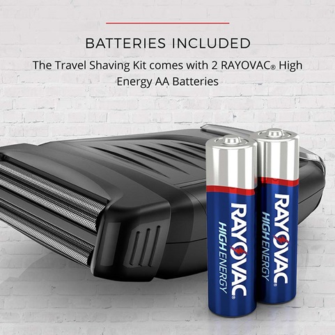 TLF200 The Weekender Travel Foil Shaving Kit Batteries Included