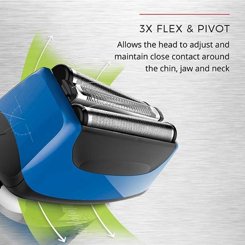 3x Flex & Pivot Allows the head to adjust and maintain close contact around the chin, jaw and neck