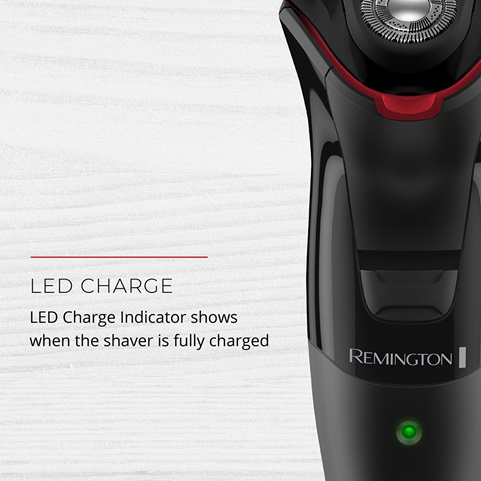 LED Charge. LED Charge Indicator shows when the shaver if fully charged