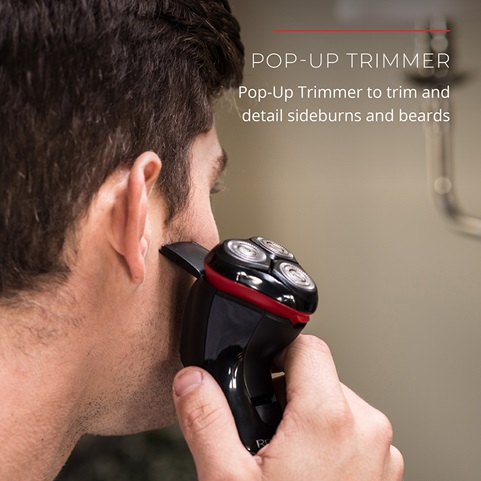 Pop-Up Trimmer. Pop-up Trimmer to trim and detail sideburns and beards