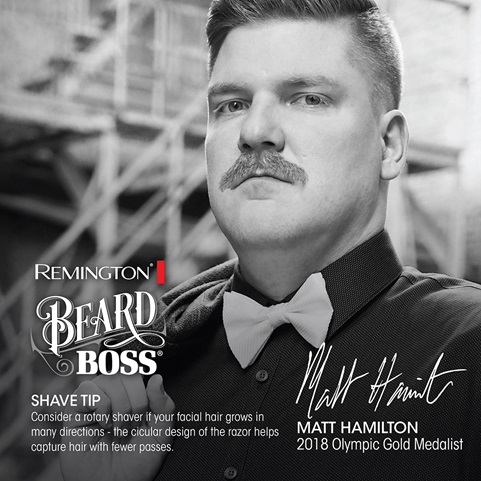 Remington. Beard Boss. Shave Tip. Consider a rotary shaver if your facial hair grows in many directions - the circular design of the razor helps capture hair with fewer passes. Matt Hamilton. 2018 Olympic Gold Medalist