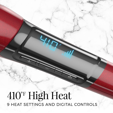 410 F high Heat and 9 heat settings