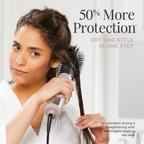 50 Percent More Protection. Dry and style in one step.
