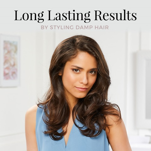 Long Lasting Results by styling damp hair