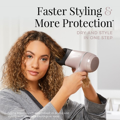 Faster Styling and More Protection. Dry and style in one step.