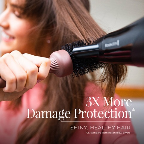 Hair dryer has 3X more damage protection.